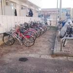 歩いて通学、お買物は自転車で。